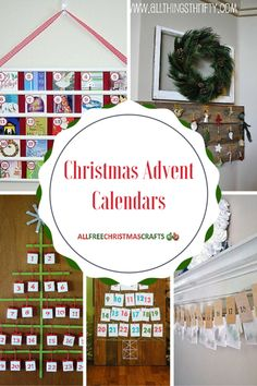 These 38 Festive and Fun Christmas Advent Calendars will brighten your holiday season and make you giddy with excitement for December Count down the days with a festive wooden or felt advent calendar. Homemade Advent Calendars, Advent Calendars For Kids, Kids Calendar, Calendar Design, Felt Advent Calendar, Christmas Calendar, Christmas Projects, Christmas Crafts, Snow Crafts