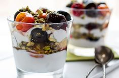 Yogurt parfaits are easy to make, and they make great desserts and snacks.