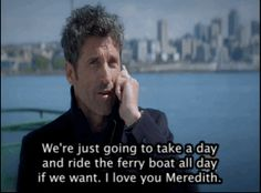 """The screen then flashed to Derek on the ferry, leaving the message for his wife. 