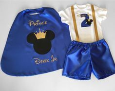 Mickey prince personalised baby boy birthday birthday dress upcake smash outfitbaby photo shoot outfit by bubblingboutique on etsy First Birthday Outfits Boy, 2nd Birthday Outfit, Prince Birthday Party, Mickey Mouse 1st Birthday, Baby Boy 1st Birthday, Mickey Party, Birthday Dresses, Little Prince Party, Cake Smash Outfit