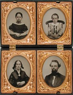 "Unknown, ""Untitled [Four portraits]"" (1857-mid 1860s)"