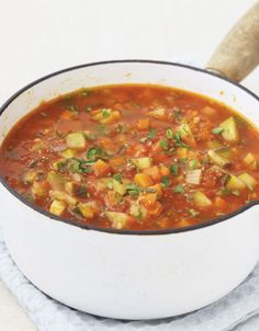 Thick vegetable soup but I would start with the Lipton onion soup in a box then add the veggies!