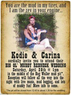 U0027Rednecku0027 Couple Celebrates The Big U0027ol Muddy Wedding