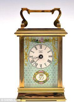 Halcyon Days Enamels Blue Miniature Carriage Clock
