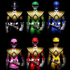 Mighty Morphin Power Rangers (in Dragon Shields) by Power Rangers Cosplay, All Power Rangers, Mighty Morphin Power Rangers, Live Action, Jesus Reyes, Thundercats Toys, Pawer Rangers, Dragon Shield, Green Ranger