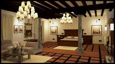 Render final Camara 2 @RuarteContract #fincas #palacios #madera #residencial #lujo