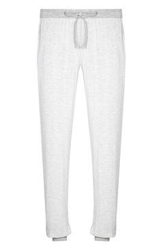 Bas de pyjama gris à rayures