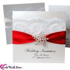 handmade Lace Wedding Invitations, snowflake Greetings Invitations ...