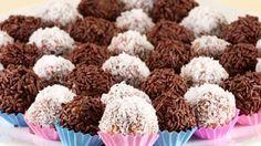 Brigadeiros de chocolate, dulces típicos de Brasil