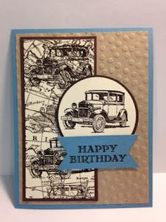 Vintage car birthday greeting cardhappy birthday cardmasculine a guy greetings masculine birthday card bookmarktalkfo Image collections
