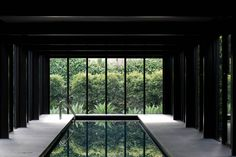 A serene indoor escape surrounded by lush greenery. Light House, a home designed by Wood Marsh Architecture. Water Architecture, Interior Architecture, Interior And Exterior, Interior Design, Piscina Interior, Melbourne House, Outdoor Light Fixtures, Swimming Pool Designs, Indoor Outdoor Living