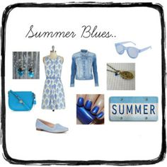 """Summer Blues"" by Accessories-boutique on Polyvore"