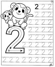 Preschool Writing, Numbers Preschool, Preschool Learning Activities, Learning Numbers, Preschool Curriculum, Free Preschool, Free Printable Alphabet Worksheets, Kids Math Worksheets, Math For Kids