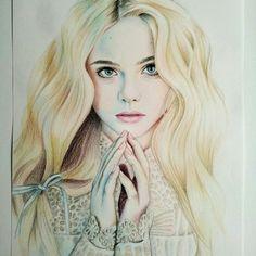 Elle Fanning Drawing By: evagarrido ♥