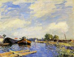 Alfred Sisley - The Canal at St. Mammes, 1886, Oil on canvas, 32 x 41 cm, Private collection