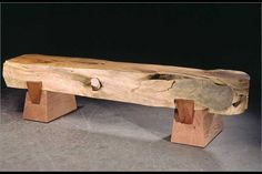 Cypress Bench! So cool I want this out by fireplace / pool...