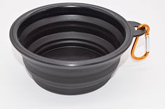 Collapsible Travel Dog Bowl Pet Travel Bowl for Food  Water Ideal for Small  Medium Sized Dogs Food Grade Silicone BPA Free FDA Approved BLACK * You can get more details by clicking on the image.