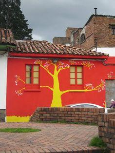 Beautiful painted house, La Candelaria, Bogota