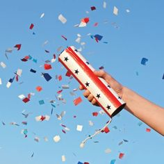 A Confetti launcher. Celebrate without the personal danger and property damage risk of fireworks.
