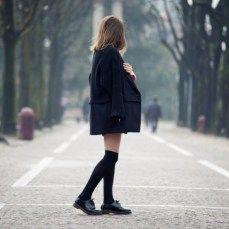 How to wear over-the-knee socks  Come indossare le parigine