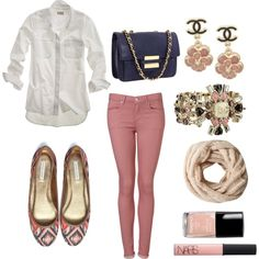 Peach & Navy!, created by kateaustin32 on Polyvore