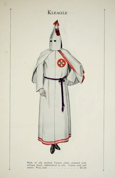 Authentic catalogue for members of the Ku Klux Klan