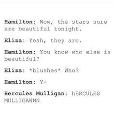 HERCULES MULLIGAN!! Hamilton.