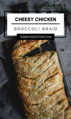 Chicken Broccoli Braid, Broccoli Cheddar Chicken, Cheesy Chicken, Looks Yummy, Casserole Recipes, Casseroles, Holiday Recipes, Breads, Side Dishes