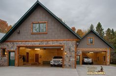 log home by golden eagle log homes garage bonus garage - Garage Homes