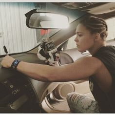 Ronda Rousey saying good bye to her old car : if you love #MMA, you'll love the #UFC & #MixedMartialArts inspired fashion at CageCult: http://cagecult.com/mma