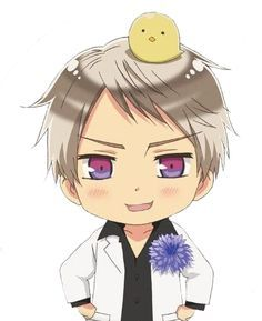 Prussia is giving you a flower<3