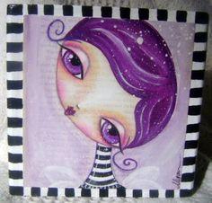 purple hair girl by Megan K. Suarez, via Flickr