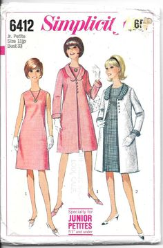 SIMPLICITY 6412 Size 11 Bust 33 Vintage 1960's by tanyamaile