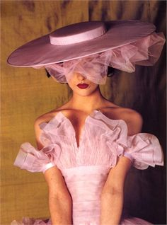 Photo by Bruce Weber, 1995- wish I had something to go to where this dress and hat would be appropriate. ;)