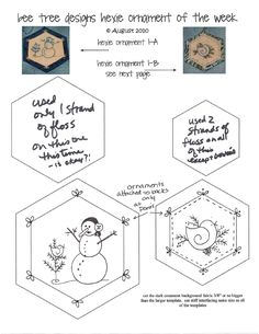 Cute embroidery ornaments...free patterns