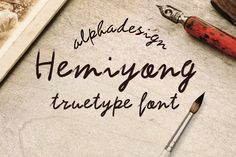 Check out Hemiyong TrueType Font by alphadesign on Creative Market