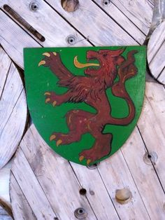Decorative Heraldic Wooden Shield - Stock - Woody's Antiques, Decorative Furniture and Objects