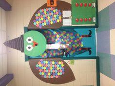 Owl door Halloween!