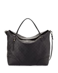Bree Large Double-Handle Leather Tote, Nero Black by Gucci at Neiman Marcus.