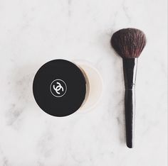 Morning makeup routine underway #wakeup & #makeup #beauty #chanel #beautyregime #pretty #blush #brush #blushbrush