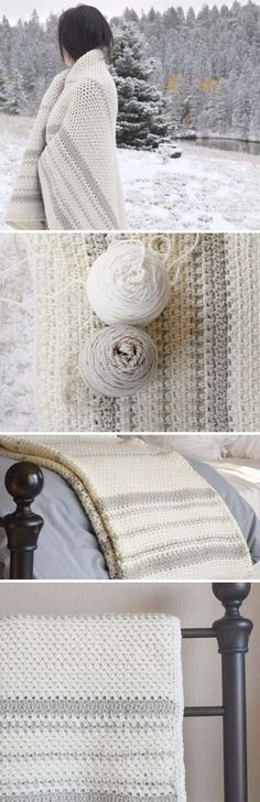 Mod Heirloom Crochet Blanket Pattern. More