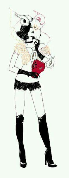 Aries Zodiac Woman Ilustration ×the ram