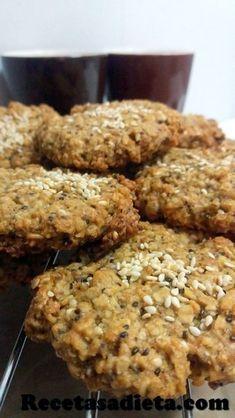 galletas de avena, naranja y semillas