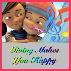 "Giving Makes You Happy: Music and Lyrics.  Download this music page and sing with other kids about being happy.    ♥•.¸¸.•♥   JW.org  Children's  Become Jehovah's Friend  Activities  ""Giving Makes You Happy""    MUCH MORE FROM THIS COLLECTION!  JW.org also has the Bible  bible based study aids to read, watch, listen  download in 300+ (sign included) languages. They also offer free in home bible studies.  All at no charge."