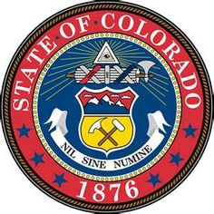 The Flag and The Seal of the state of Colorado