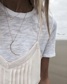 Love our Itty Bitty Star + Luna Necklace
