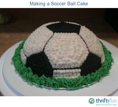 This is a guide about making a soccer cake. A soccer ball shaped cake may just what your want for an upcoming birthday or athletic banquet event.