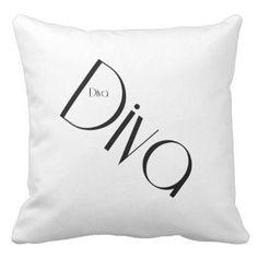 Diva throw pillow - diy cyo personalize design idea new special custom