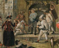 Scène de Commedia dell'arte. Anonyme. XVIIIe siècle.