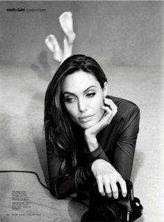 Camera-Wielding Celebrity Editorials - The Angelina Jolie Marie Claire Photo Shoot is Stunning